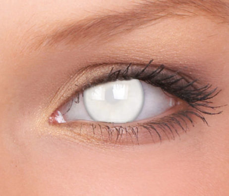 Crazy Lens Blind White Yearly Disposable 14 mm Contact Lens