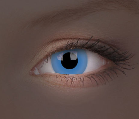 Crazy Lens UV Glow Blue Yearly Disposable 14 mm Contact Lens