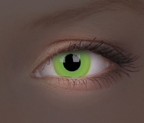 Crazy Lens UV Glow Green Yearly Disposable 14 mm Contact Lens