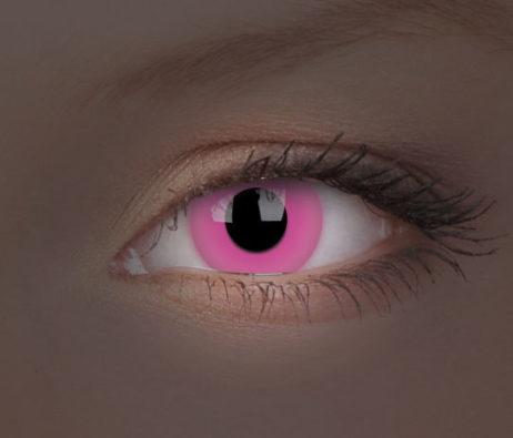 Crazy Lens UV Glow Pink Yearly Disposable 14 mm Contact Lens