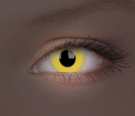 Crazy Lens UV Glow Yellow Yearly Disposable 14 mm Contact Lens
