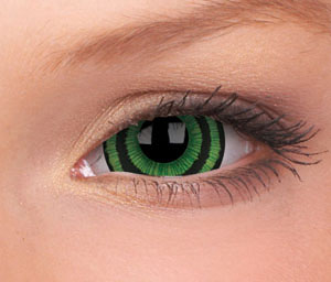 Crazy Lens Green Goblin Yearly Disposable 17 mm Contact Lens