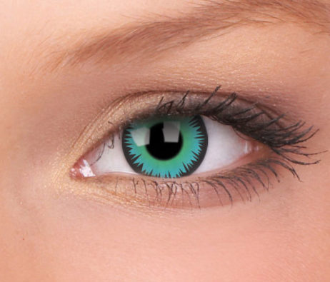Crazy Lens Green Werewolf 3 Months Disposable 14mm Contact Lens