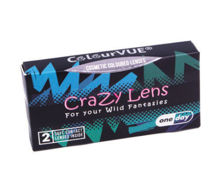 Crazy Lens Sky Blue Daily Disposable 14 mm Contact Lens