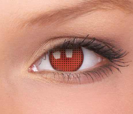 Crazy Lens Red Screen 3 Months Disposable 14 mm Contact Lens