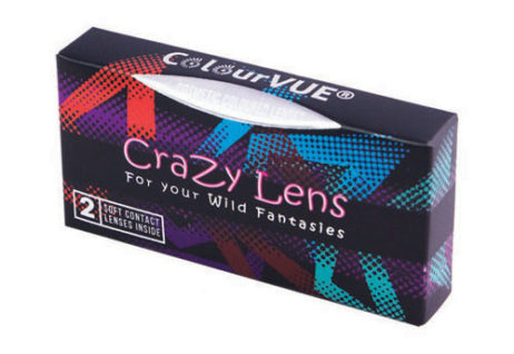 Crazy Lens Black Screen 3 Months Disposable 14 mm Contact Lens