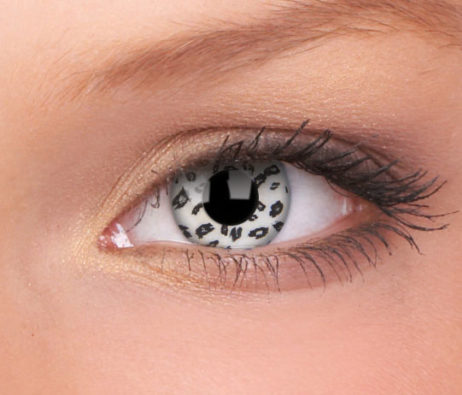 Crazy Lens White Leopard Yearly Disposable 14 mm Contact Lens